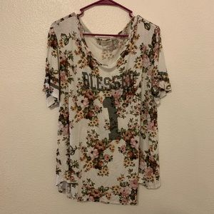 Blessed 1 floral shirt